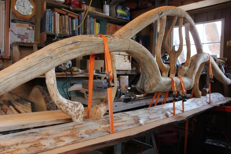 wood bench design with backrest